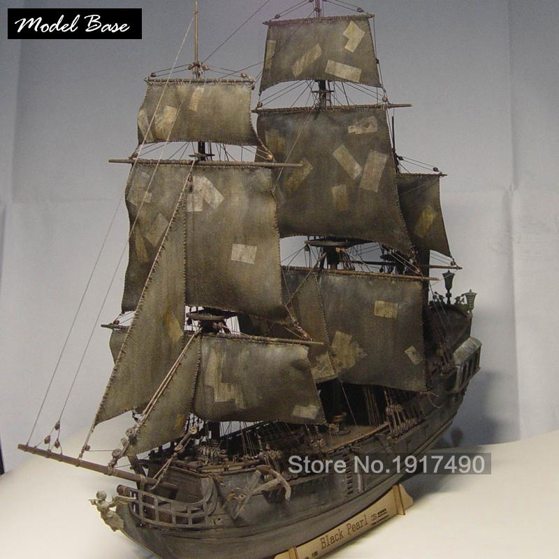 Wooden Ship Models Kits Black Pearl 1/96 Train Hobby Scale Wooden Ship Model Boats 3d Laser Cut Diy Black Pearl Model Kit pirata(China (Mainland))