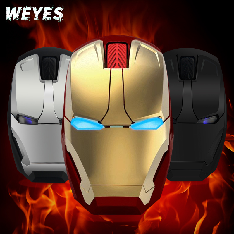 WEYES Wireless mouse for Iron man appearance Creative power saving Notebook computer games mouse The coolest Art(China (Mainland))