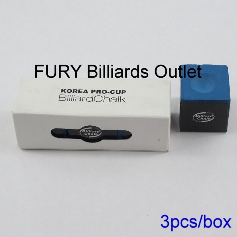 Quality Korea pro cup pool Cue Chalk /Billiard Chalk/ Blue chalk for cue /accessories/ 3 pcs/box(China (Mainland))