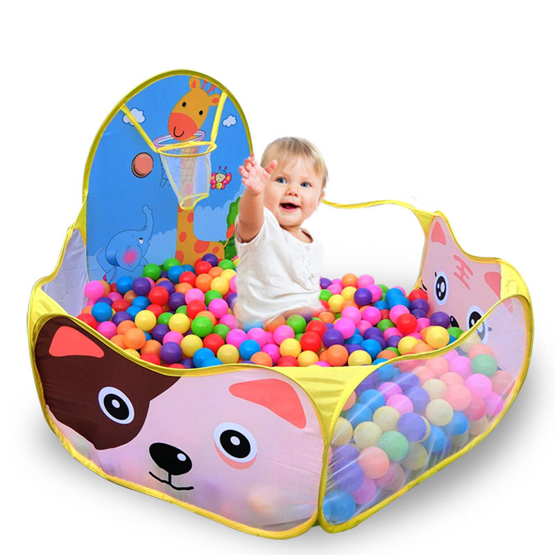 Kids Baby Playpen Cartoon Cast Basketball Indoor Outdoor Ocean Ball Pool Play Game House Tent Pool Children Tent Baby Play Yard(China (Mainland))