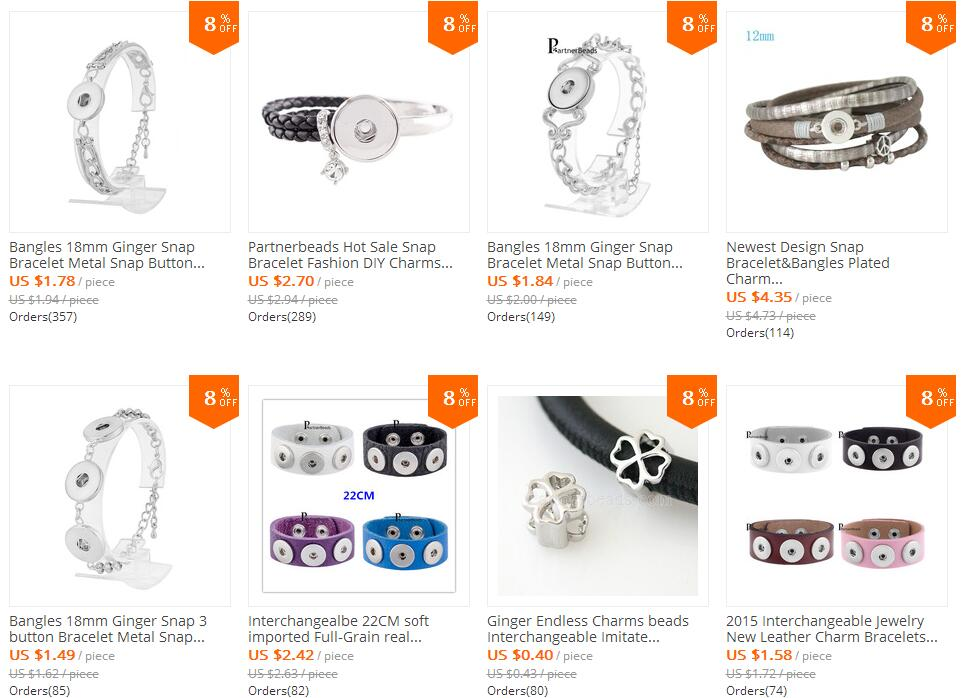 0000 hot sale snap jewelry