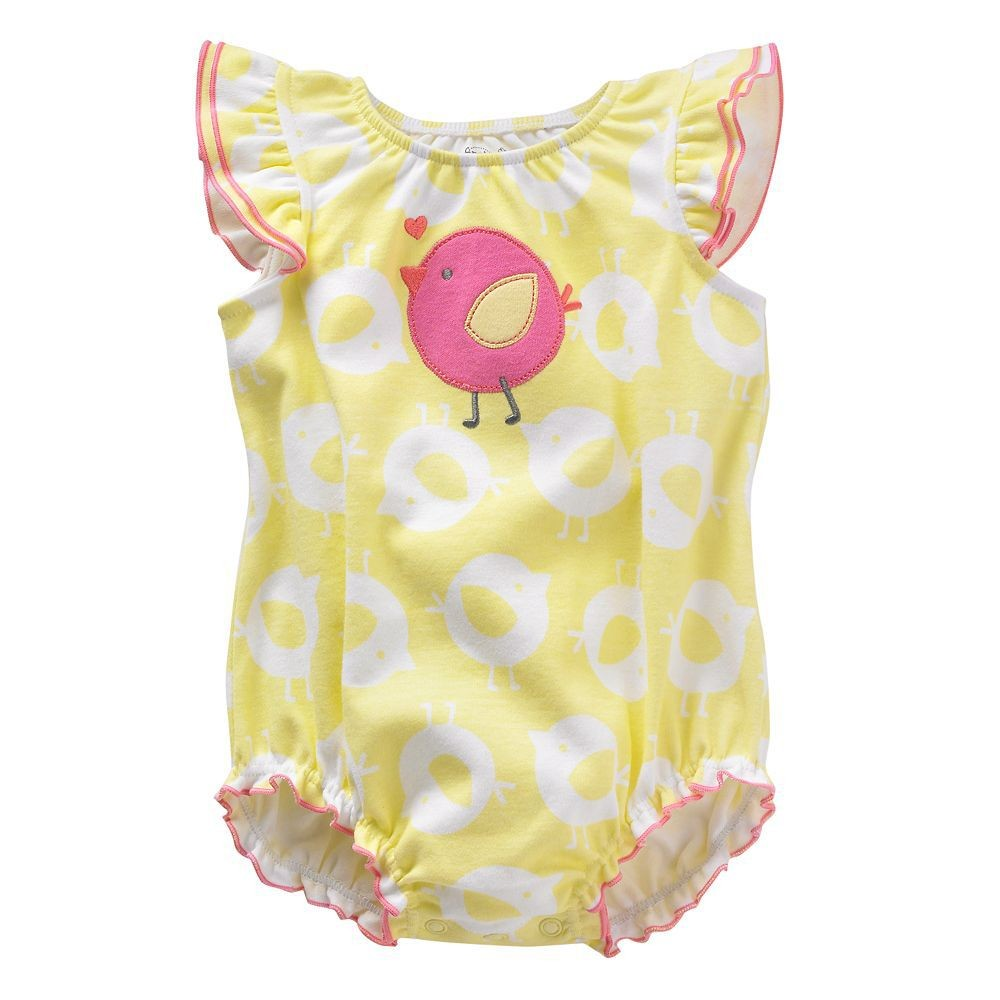 Baby Rompers Newborn Baby Girl Clothes 2016 Summer Brand Baby Clothes Cartoon Floral Print Newborn Romper Baby Costume 6-24M<br><br>Aliexpress