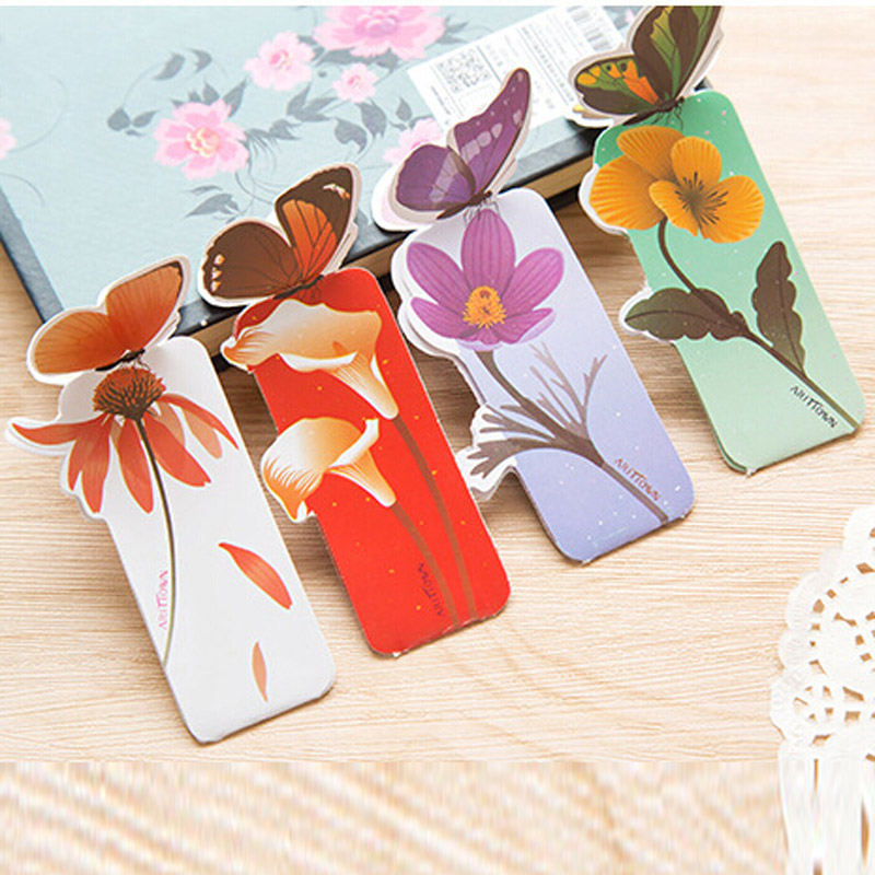 Free Shipping New 50pcs Bookmarks For Books Paper Stationery Office School Home Supplies Elegant Fashion Butterfly Shape Gifts(China (Mainland))