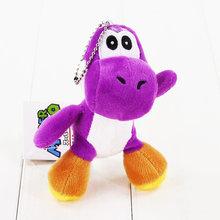 10 estilos 12 centímetros Super Mario Yoshi de Pelúcia Brinquedo de Pelúcia Macia Bonecas Pingente Com Keychain Chaveiro Grande Presente(China)