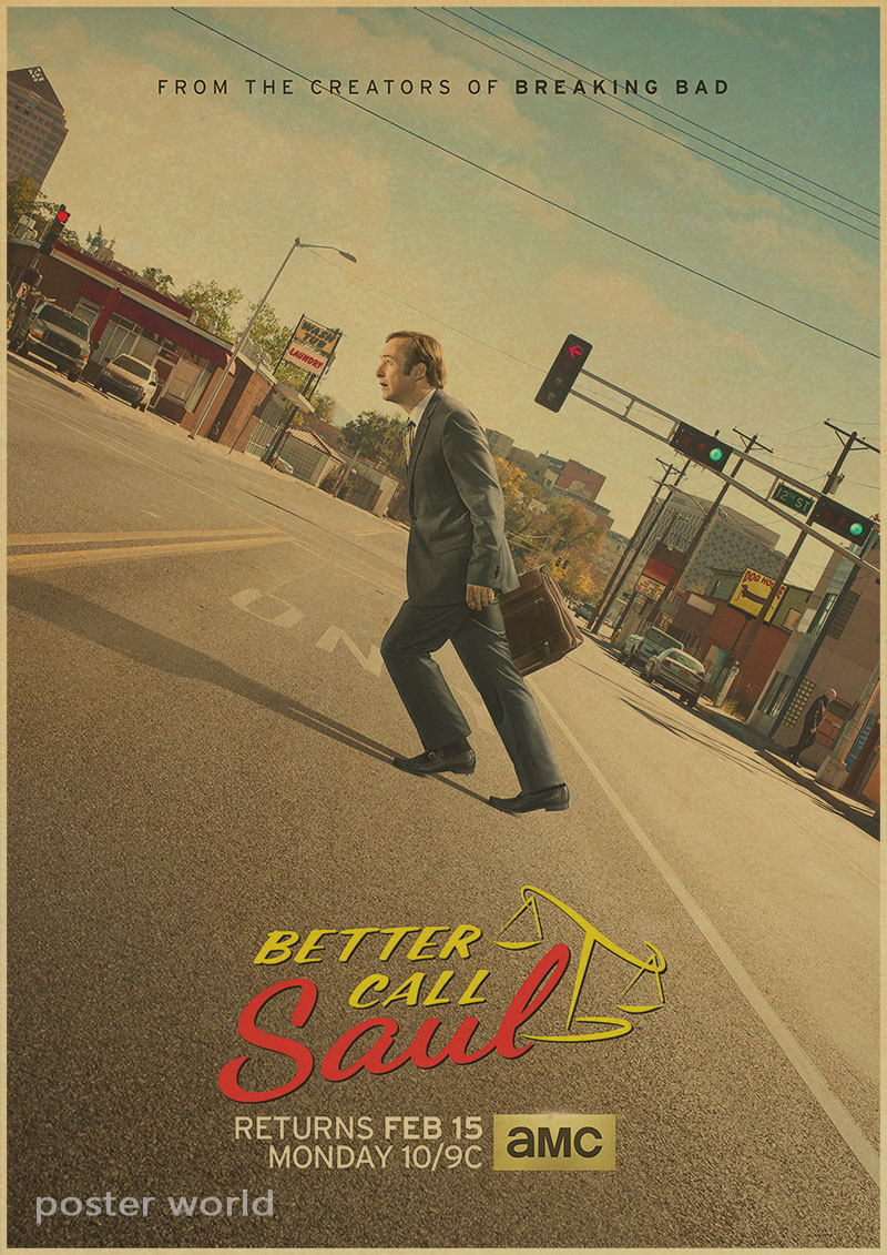 BETTER CALL SAUL TV Show retro POSTER Breaking Bad Bob Odenkirk Movie Art Wall Decor Fabric Poster