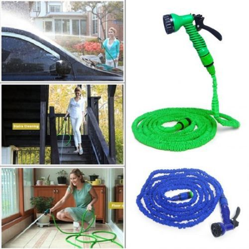 100 Feet Green Expand Expanding Flexible Garden Water Hose(China (Mainland))