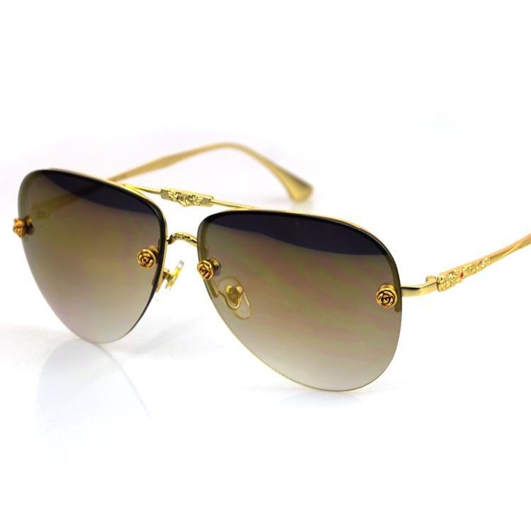 Rimless Glasses New Lenses : High quality New metal flower Sunglasses Men rimless ...