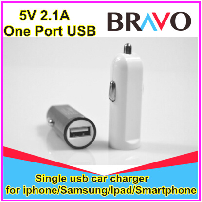 free shipping 2015 hot ! For smart phones mini 5V 2.1A car charger usb(China (Mainland))