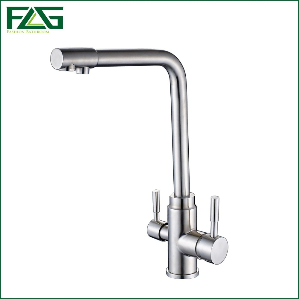 Buy Flg 3 Way Tap 304 Stainless Steel Drinking Water Faucet Water Filter