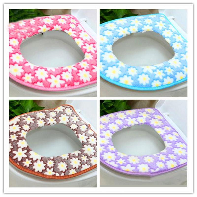 Winter Toilet Seat Warmer Coral fleece Thicken Carpet Toilet Seat Cover Soft Comfortable Baby Potty Seat Overcoat Toilet Cas(China (Mainland))