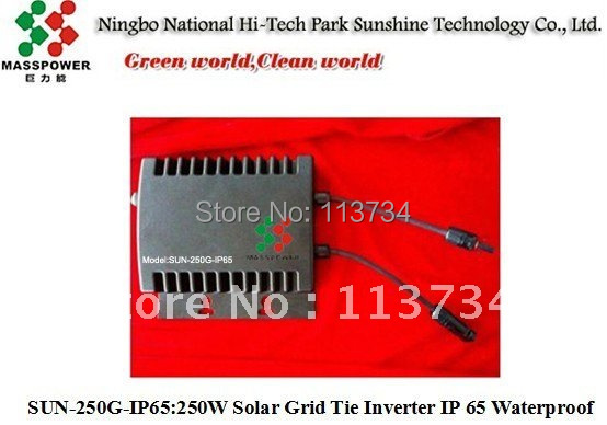 wholesale 250W IP65 Solar waterproof Grid Tie Inverter  with MPPT function, pure sine wave