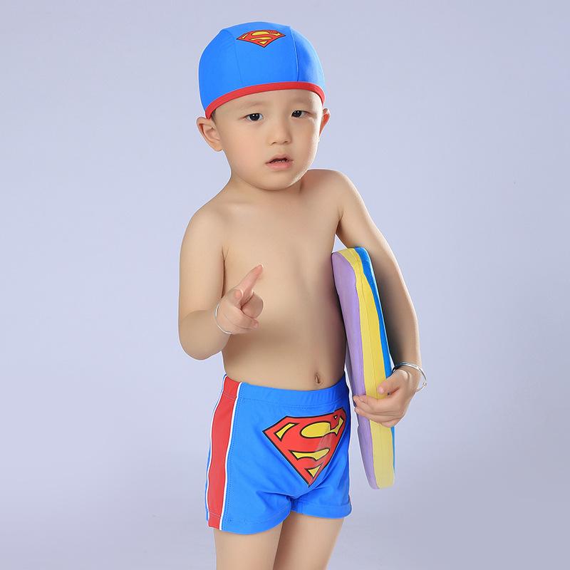 2015 boys Swimwear Swimming Trunks Swimming Suit Boys Superman Trunks Infant Baby Child Baby Swimsuits #1057(China (Mainland))