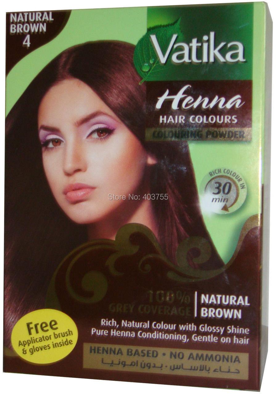 Vatika Henna Hair Coloring Powder Natural Brown 100 Grey