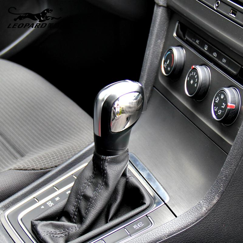 Volkswagen Golf 7 Car gear cover ABS chrome trim with vw logo auto accessories 2pcs for
