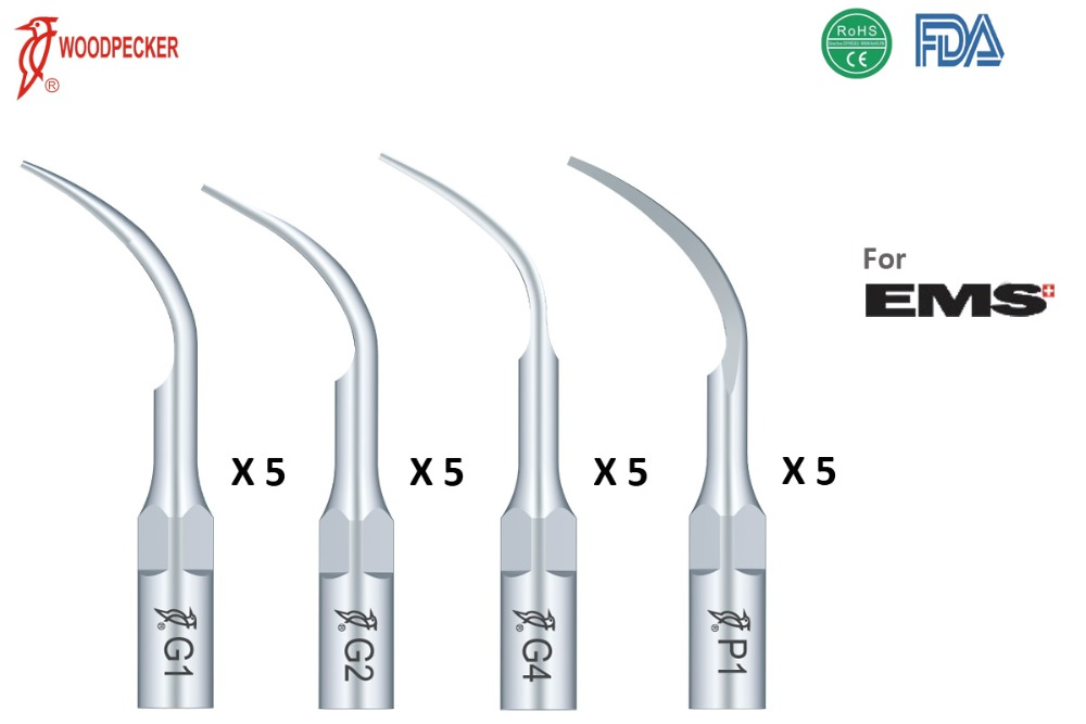 Woodpecker dental equipment 20pc scaler tip G1 G2 G4 P1 dentist tool odontologia product dentistry denture tooth teeth whitening(China (Mainland))