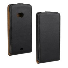 High Quality Vertical Black Cover Case For Microsoft Lumia 535 High Quality Flip Leather Magnetic Cases(China (Mainland))