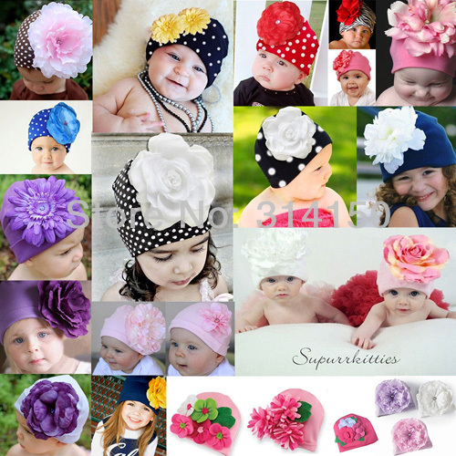 Tou Baby girl s Flower Hats Baby Hats Christmas hat girl s spring winter autumn Cap