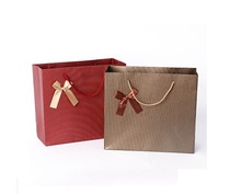 Free Shipping Wine red paper gift bags,Luxury paper shopping bag Size 15*7*14cm(China (Mainland))