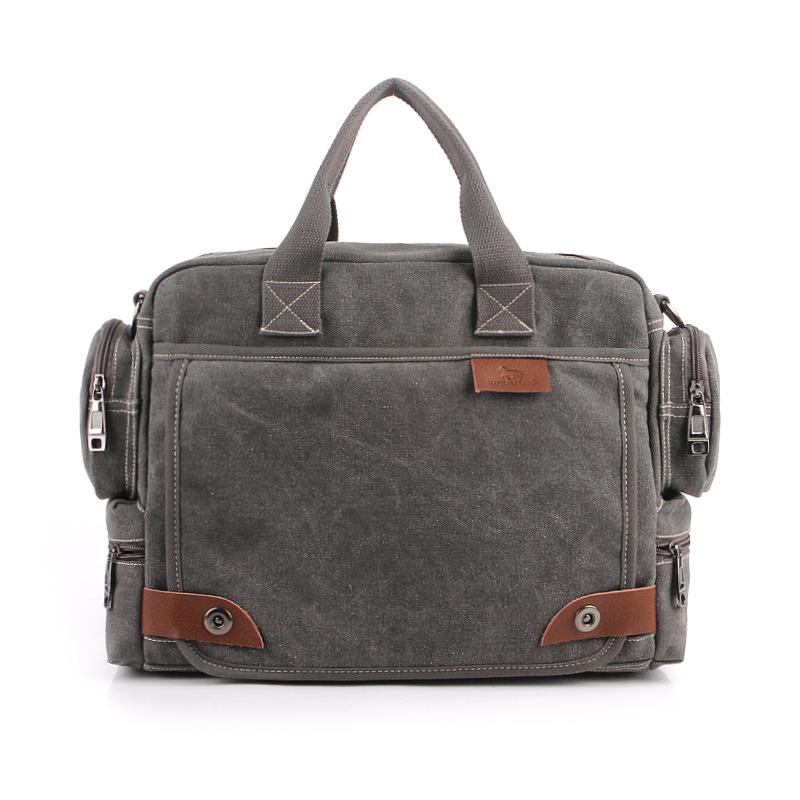 Mens Canvas Business Shoulder Bag