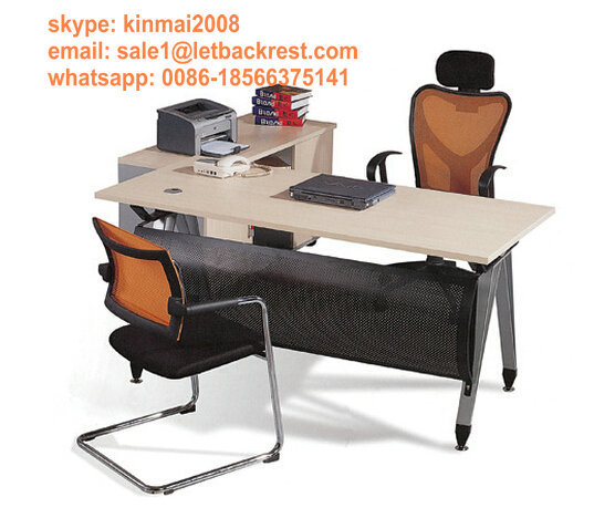 Modern metal Wooden Office Table computer desk furniture(China (Mainland))