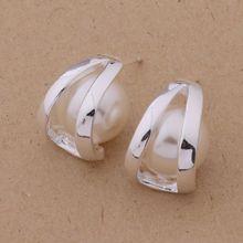 925 silver earrings 925 sterling silver fashion jewelry earrings nice pearl /cjzalbga bgyajyfa AE298(China (Mainland))