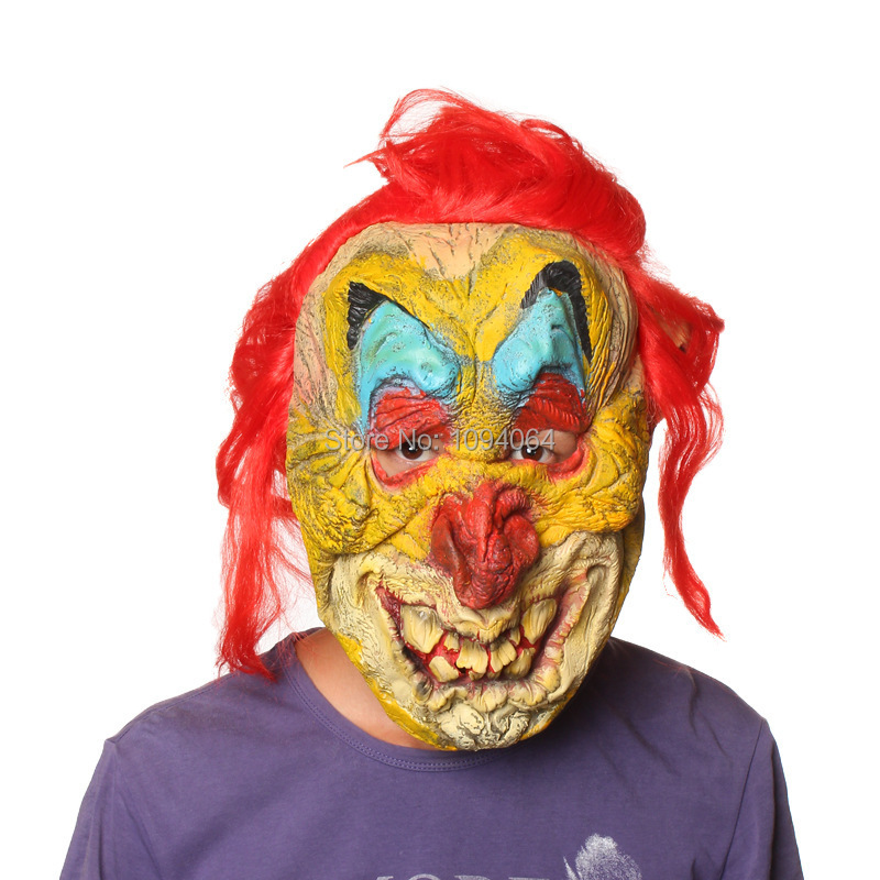Scary Latex Halloween Mask for Carnival Masquerade Party Masks Hallowmas related decoration(China (Mainland))