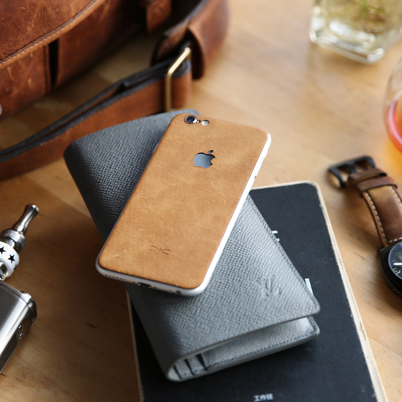 Luxury Genuine Leather Full Back Skin Sticker for Apple iPhone 6s/6plus High Quality for iPhone 7/7 Plus Decal Durable Protector(China (Mainland))