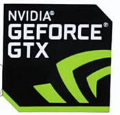 Free Shipping 100% New Original For NVIDIA GeForce GTX Sticker Size:18x18mm For Desktop Laptop Stickers(China (Mainland))