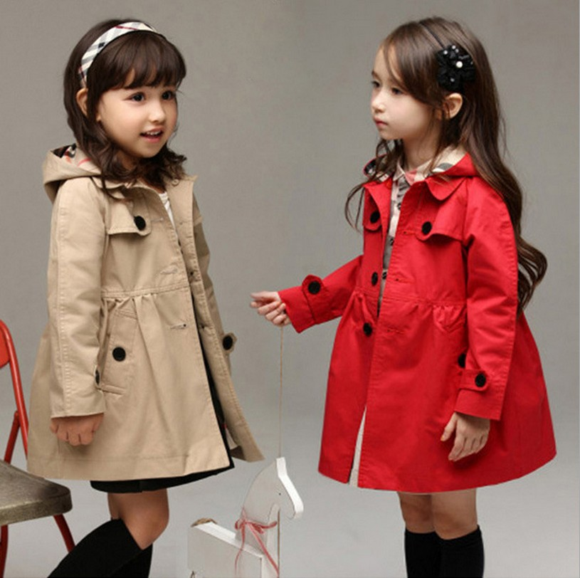 Autumn coat children Long outwear kid jackets font b Plaid b font casual fashion jacket windbreaker