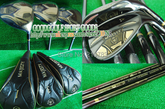 Golf Clubs Maruman MAJESTY PRESTIGIO SUPER 7 Complete set of Club 3wood+9irons(no bag)Golf Graphite shaft cover Free shipping,(China (Mainland))
