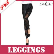 800pcs Wholesale Fashion Sexy Faux Leather Boots Pants Matt Bow Knot Leggings Black Free Shipping  SLG139(China (Mainland))