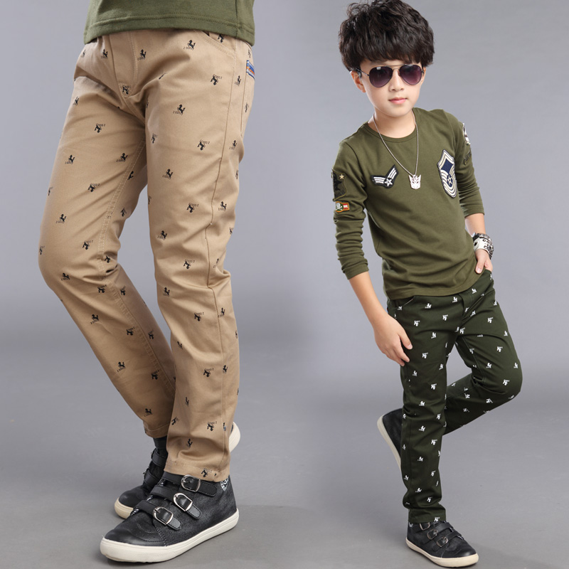 Kids fashion teen boys clothing pants baby boys casual cotton pants children leisure school trousers top quality cheap 3-12T(China (Mainland))