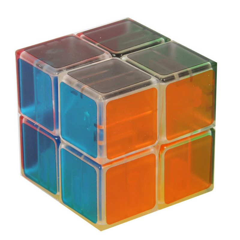 2014 Brand New LanLan 2x2 Spring/Screw/Transparent Magic Cube Professional Intelligence Test Cube Puzzle Educational Special Toy(China (Mainland))