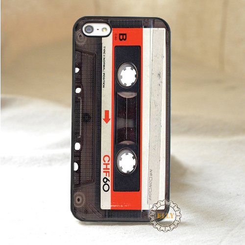 Audio Cassete fashion mobile phone case cover for iphone 4 4s 5 5s 5c 6 6 plus H1605(China (Mainland))