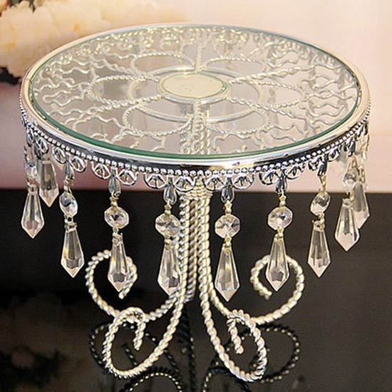Buy Luxury Crystal Metal Wedding Cake Stand Cake Tray Pastry Tray