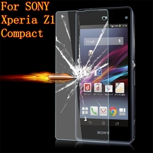 "Buy Z1 Compact Premium 9H tempered glass SONY Xperia Z1 mini D5503 M51W Z1 Compact 4.3"" Screen Protector Protective Film Case for $1.89 in AliExpress store"