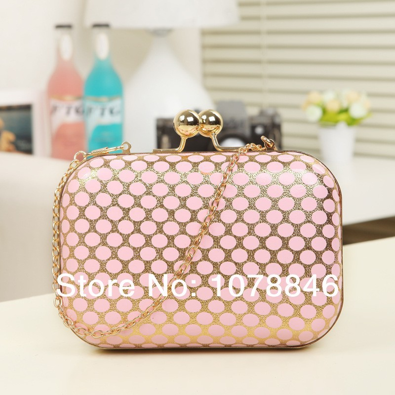 2014 mini Female women Evening Bag ladies Luxury handbag day Clutch Purse leather wallets Wedding Party chain shoulder Bags - Rose Ding Store store