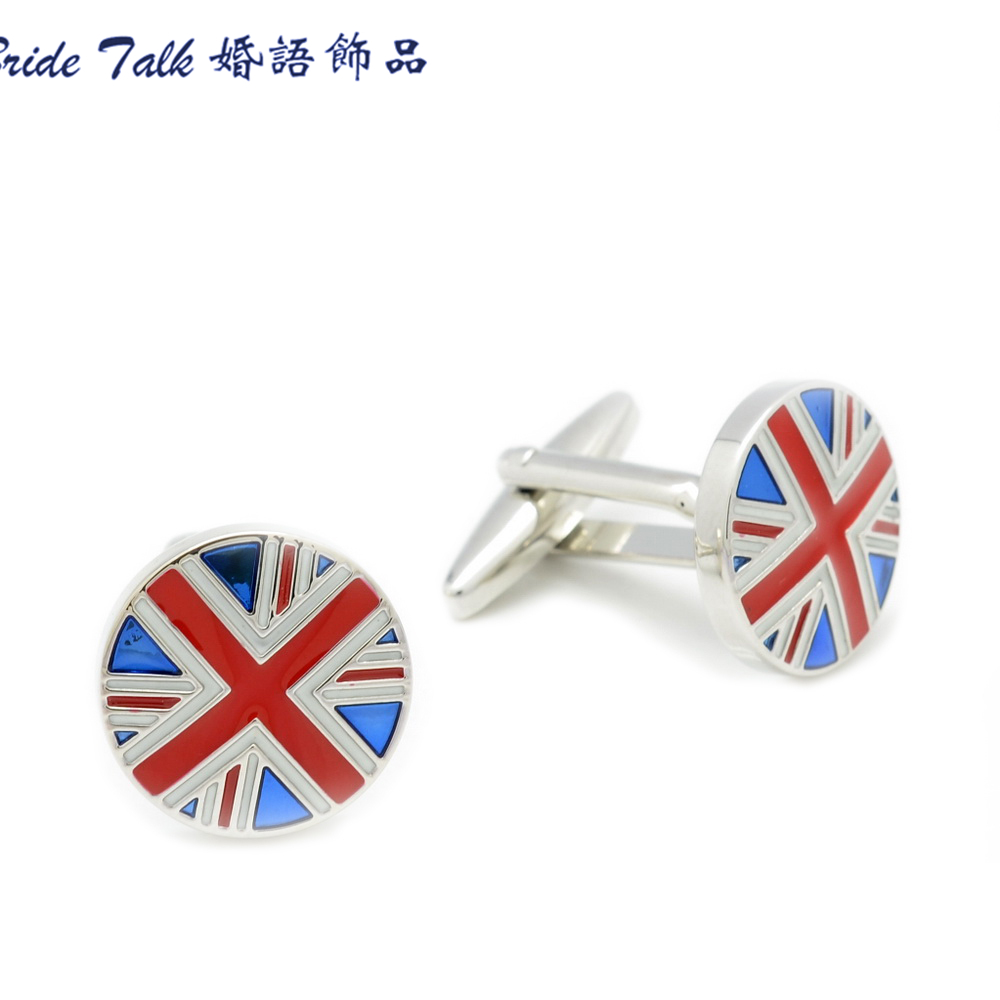 Excellent New Men's Cufflinks Cuff inks Formal Business Groom Men's Wedding Gift Party Suits Shirt England Flag Copper(China (Mainland))