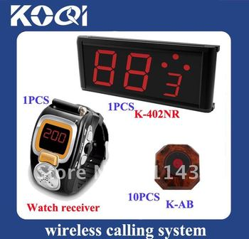 Top popular Wireless Waiter Service Paging Call Calling System ; Can show how many next coming calling