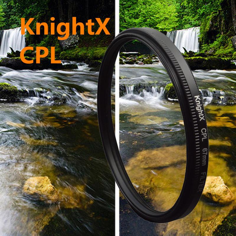 KnightX 49 -77 mm cpl polarizing Filter for Canon <font><b>Nikon</b></font> Sony DSLR SLR camera <font><b>Lenses</b></font> <font><b>Nikon</b></font> D7000 D5200 D5100 D5000 D3200 D3100