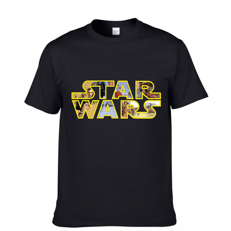 Hot tops tees movie TV fitnesss men s t shirt cartoon game casual shirt star wars