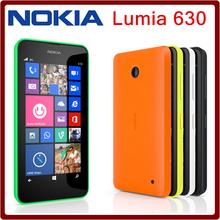 Original Unlocked Nokia Lumia 630 Cell Phone Windows OS Single sim cards 8GB Storage 5.0MP camera 4.5 IPS screen Free shipping(China (Mainland))
