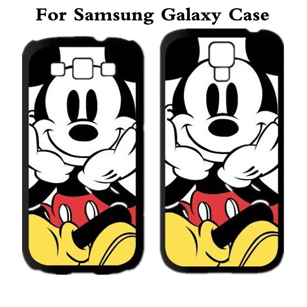 Mickey Mouse Protective Cover Case For Samsung Galaxy Note 2 3 4 5 S3 S4 S5 S6 edge MINI alpha Grand 2 Grand Prime Note edge(China (Mainland))