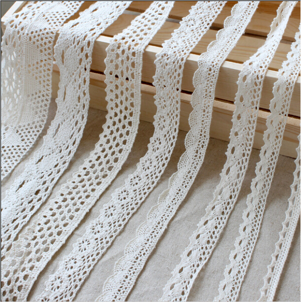 20m/lot, width 35 to 70mm, Cotton Lace Accessories Cotton Edge Theory Sweater Side Skirt Curtain Sofa Diy Cotton Lace TRIM(China (Mainland))
