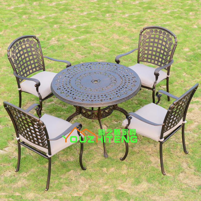 Teng secluded outdoor furniture leisure furniture aluminum outdoor patio furniture, wrought iron balconies Five-piece dinette YZ(China (Mainland))