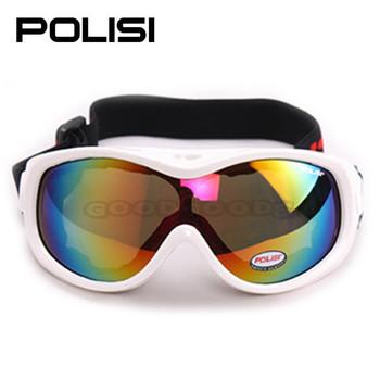 2015 новая бесплатная доставка! Polisi P-305-WH сноуборд мотоциклов лыжная очки зимние сани скейт детские солнцезащитные очки байк очки