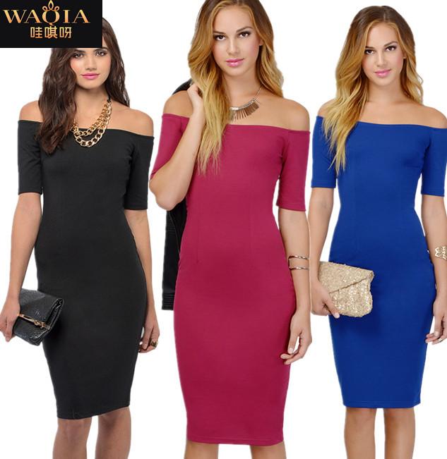 Женское платье WAQIA 2015 vestidos femininos