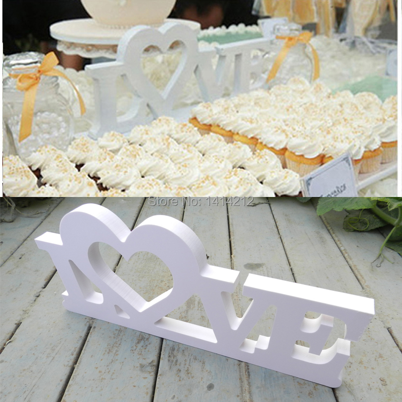 Love english letters decoration personalized wooden name for Decoration 9 letters