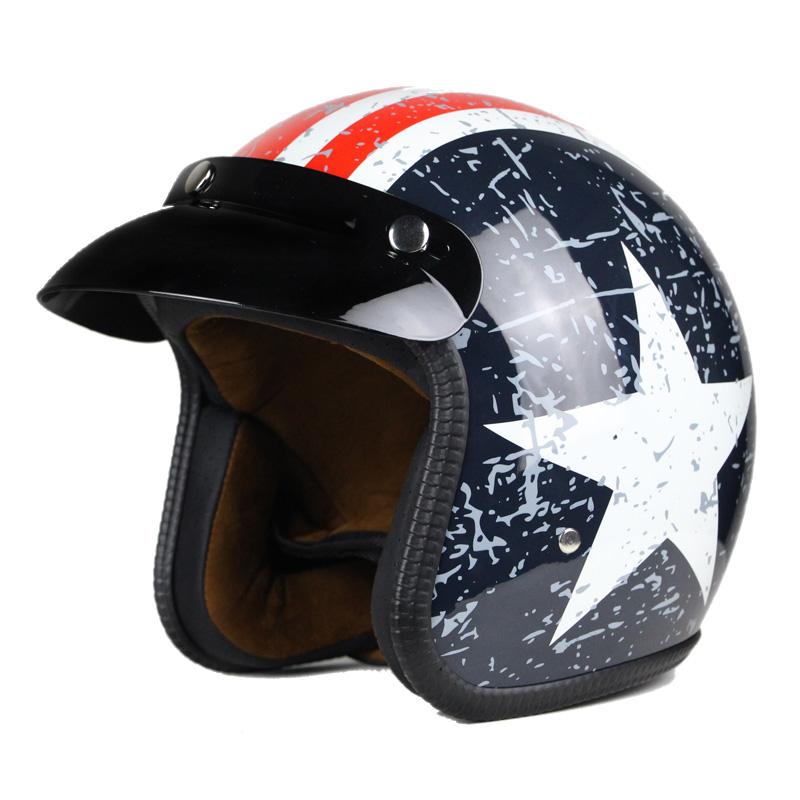 Motorcycle helmet jet Vintage helmet Open face retro 3/4 half helmet casco moto capacete Retro Motocross Motorcycle Vintage(China (Mainland))