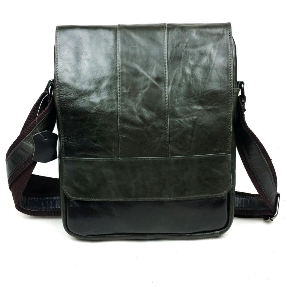 First layer of cowhide oil wax genuine leather men bag casual Europe and America shoulder bag cross body bags messenger bags(China (Mainland))